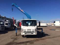 Isuzu NQR. Бортовой грузовик с манипулятором Isuzu, 5 193 куб. см., 5 000 кг.