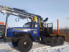Урал 55571. Лесовоз (230 л. с. ) с гидроманипулятором Майман-100. Цена, 11 150 куб. см., 10 000 кг.