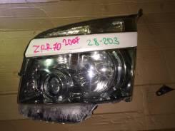 Фара. Toyota Noah, ZRR70, ZRR70G, ZRR70W, ZRR75, ZRR75G, ZRR75W Двигатели: 3ZRFAE, 3ZRFE