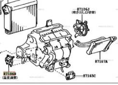 Сервопривод заслонок печки. Toyota Camry, ACV30, ACV31, ACV30L, MCV30L, ACV35, MCV30 Toyota Pronard, MCX20 Toyota Windom, MCV30 Toyota Kluger V, ACU25...