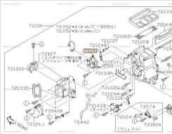 Сервопривод заслонок печки. Subaru Outback, BPE Subaru Legacy, BP9, BLE, BPE, BP5, BL5 Двигатели: EJ30D, EJ20C, EJ204, EJ203, EJ20Y, EJ20X, EJ253