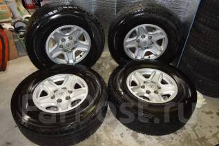 Отличные зимние Dunlop SJ8 265/70/16 на литье Prado 15/7/16. 7.0x16 6x139.70 ET15