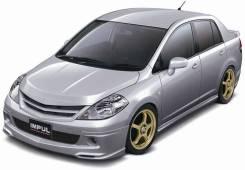 Обвес кузова аэродинамический. Nissan Tiida Latio