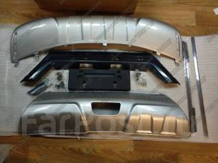 Накладка на бампер. Nissan X-Trail, HNT32, HT32, NHT32, NT32, T32 Двигатели: MR20, MR20DD, QR25, QR25DE, R9M. Под заказ