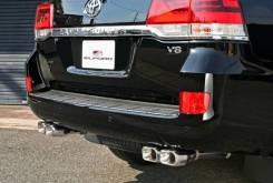Глушитель. Toyota Land Cruiser, UZJ200, UZJ200W, GRJ200, VDJ200, J200, URJ202, URJ202W, URJ200 Lexus LX570 Двигатели: 2UZFE, 1GRFE, 1VDFTV, 3URFE, 1UR...