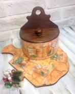 Комплект для кухни Травы Прованс, Подарок из дерева
