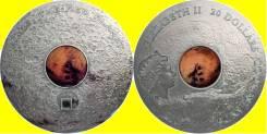 * Острова Кука 20 долларов 2017 Марс * Метеорит * Космос * Серебро 3