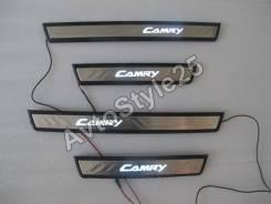 Накладка на порог. Toyota Camry, GSV50, AVV50, ASV50