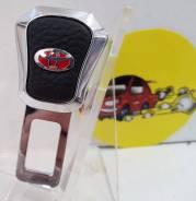 Вставка ремня безопасности (заглушка блокировка)TOYOTA кожа иск хром арт MGB01