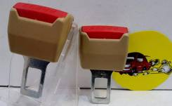 Вставка ремня безопасности (заглушка блокировка) БЕЖЕВЫЙ пластмасса 2шт арт MGB07