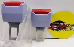 Вставка ремня безопасности (заглушка блокировка) СЕРЫЙ пластмасса 2шт арт MGB08