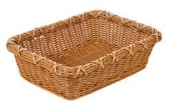 Корзина для хлеба 30х40х11см прямоугольная пласт.коричневая [Brown 5500] кт1973