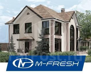 M-fresh Cad!llac Plus! (Готовый проект коттеджа со вторым светом! ). 200-300 кв. м., 2 этажа, 5 комнат, бетон