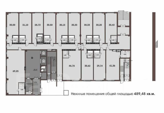 Продается мини-отель в центре города. Улица Махалина 10, р-н Центр, 489кв.м. План помещения