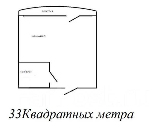 1-комнатная, переулок Некрасовский 24. Центр, агентство, 35 кв.м. План квартиры