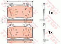 Колодки тормозные дисковые | перед | TRW GDB1543