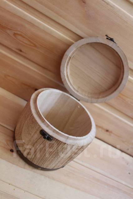 Большой деревянный бочонок 18*16см