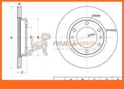 Диск тормозной передний TY LCR Prado HZJ/KZJ/PZJ7# 93-99, HiLux LN100/106, YN100/105 88-97 SAT / ST4351260100