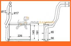 Радиатор отопителя салона TOYOTA CAMRY #CV30 01-06/SOLARA 03-08/TOYOTA LAND CRUISER 100 98-07 SAT / STTY383950