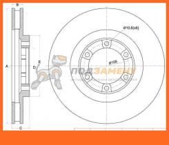 Диск тормозной передний HYUNDAI TERRACAN 02- SAT / ST51712H1000
