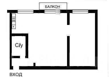 2-комнатная, улица Рылеева 8. Эгершельд, частное лицо, 50 кв.м. План квартиры