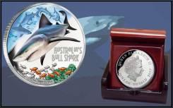 * Тувалу 1 доллар 2017 Акула Bull Shark * Серия Смертельные и Опасные