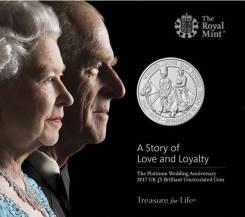 Великобритания 5 фунтов 2017 Wedded Love Has Joned Them In Happiness