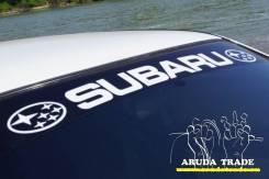 Наклейка на стекло Субару (черная основа)