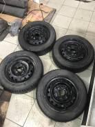 "Колеса штампы Nissan плюс шины r14 4*114.3 155/65/14 toyo garrit G5. 5.5x14"" 4x114.30 ЦО 70,0мм."