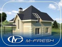 M-fresh Simple (Готовый проект дома с мансардным окном). 100-200 кв. м., 1 этаж, 4 комнаты, бетон