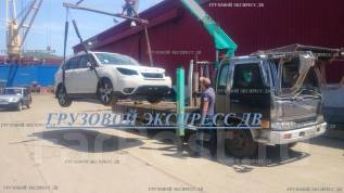 Услуги эвакуатора Грузоперевозки бортовой с краном манипулятор 5 тонн