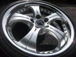 """Именитые диски Work Euroline в летней резине Bridgestone. 7.5x18"""" 5x114.30 ET45 ЦО 73,0мм."""