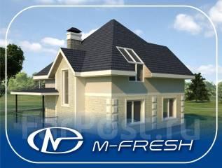 M-fresh Simple (Проект дома с мансардным окном для звёзд! ). 100-200 кв. м., 1 этаж, 4 комнаты, бетон
