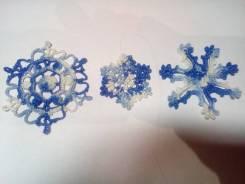 Новогодние снежинки ручной работы