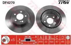 Диск тормозной задний! MB W211 2.0-5.0/4.0CDi 02 DF4270_ TRW/Lucas DF4270