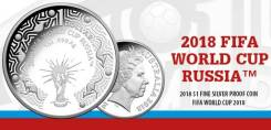 Австралия 1 доллар 2018 FIFA World Cup Russia Футбол Пруф