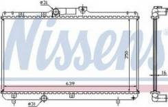 Радиатор охлаждения MT 1.3 1.5 1.6 1.8 (1 ряд), длина 640мм Тайвань Toyota Corolla Ae100 лифтбэк -3/5дв