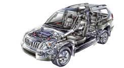 Пневмоподвеска. Lexus GX470, UZJ120 Toyota Land Cruiser Prado, KDJ120W, GRJ121W, LJ120, GRJ120W, KDJ121W, KDJ120, KDJ125W, GRJ120, GRJ125W Двигатели...