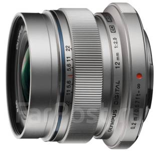Объектив Olympus M. Zuiko Digital 12mm f/2 ED Silver для Olympus. Для Olympus, диаметр фильтра 46 мм