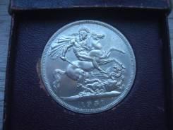 Монеты Англии в банковской упаковке 1951-1981 год в коллекцию 7 шт.
