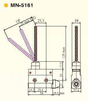 Микровыключатель MN-5161 Moujen Elektctric