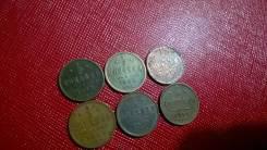 1/2 копейки 6 штук 1899 ,1909,1911,1912,1913,1914 гг.