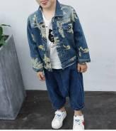 Куртки джинсовые. Рост: 98-104, 104-110, 110-116, 116-122, 122-128 см
