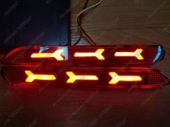 Неоновые фонари в задний бампер Toyota, Lexus Красные (Катафоты). Lexus: RC200t, RC350, NX200t, GX470, NX300h, RC300, IS F, RC300h, RC F, NX200, RX300...