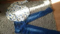 Блузка и джинсы одним лотом. 44, 46