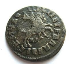 Пётр I Копейка 1716 год Буквами (МД) Хорошая! Редкая!