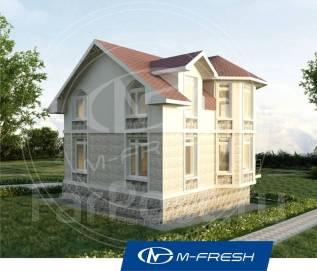 M-fresh Big Window (Готовый проект дома 9 х 9 с 5 комнатами. Во, как! ). 100-200 кв. м., 2 этажа, 5 комнат, бетон