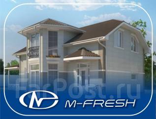 M-fresh B!g Lord (Проект дома с выразительным эркером! Посмотрите! ). 200-300 кв. м., 2 этажа, 5 комнат, бетон