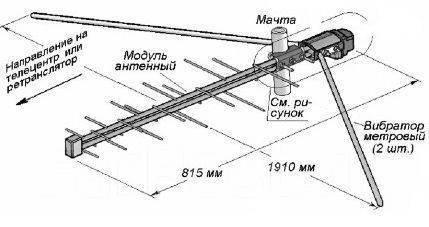 Антенна дельта схема фото