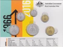 * Австралия Альбом под набор 6 монет 2016 50th Anniversary of